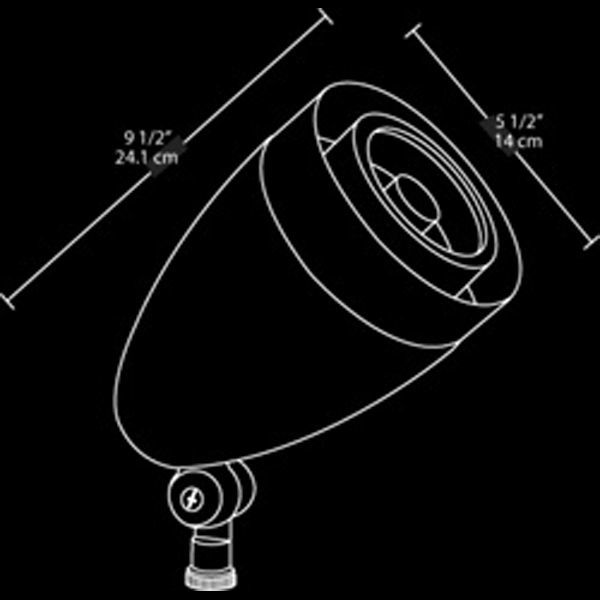 RAB HSLED13NB - 13 Watt - LED - Bullet Spot Light Fixture Image