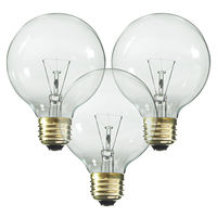 40 Watt - G25 Globe - Clear - 2,500 Life Hours - 384 Lumens - Medium Base - 120 Volt - 3 Pack