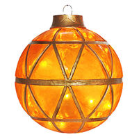 Illuminated - Christmas Hanging Mosaic Ball - 16.5 in. - Gold - Fiberglass - 20 Bulbs