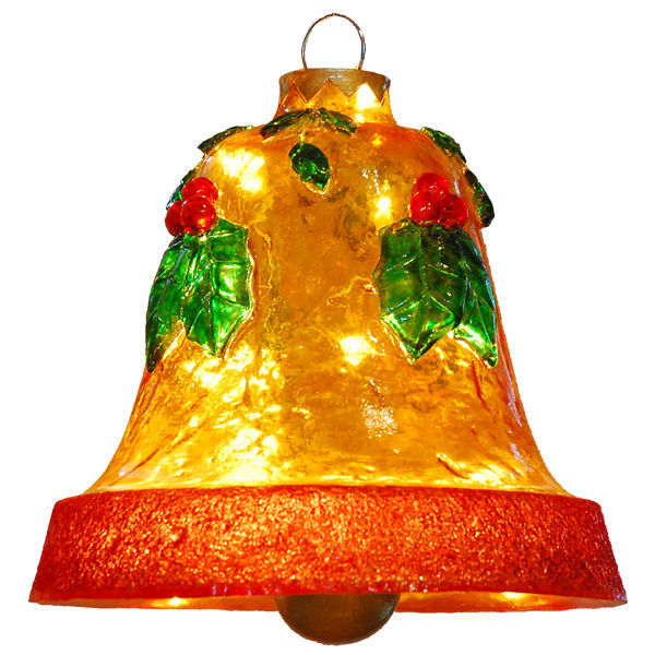Fiberglass Hanging Holly Bell Image