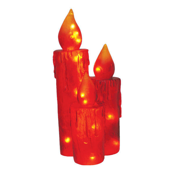 (Set of 3) Fiberglass Frosted Candle Trio Image
