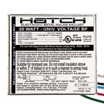 Hatch MC20-1-J-UNNU - 20 Watt - Electronic Metal Halide Ballast Image