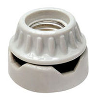 Medium Base Socket - Low Surface - Porcelain White - 660 Watt Maximum - 250 Volt Maximum - PLT D3729