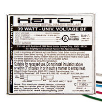 Hatch MC39-1-J-UNNUG3 - 39 Watt - Electronic Metal Halide Ballast - Bottom Feed Mounting With Studs