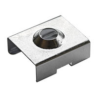 Chrome Mounting Bracket - Designed for PDS4-ALU, PDS4-K, MICRO-ALU, and PDS-O Channels - Klus 1345