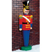 6.3 ft. - Half Toy Soldier - Life Size - Fiberglass - Christmas Decoration