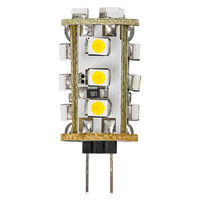 0.8 Watt - G4 Base LED - 6100 Kelvin - Stark White Color - Replaces 5 Watt Halogen - 12 Volt AC/DC