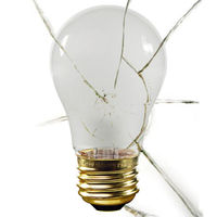 Shatter Resistant - 25 Watt - A15 - Silicone Coating - 130 Volt - Appliance Light Bulb