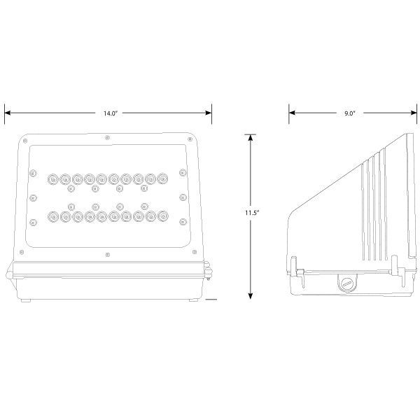 30 Watt - LED - Wall Pack - 100W  Equal Image