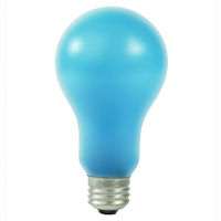 BCA - Photography Lighting - A21 - Blue Frosted - Photoflood - 250 Watts - 120 Volt - E26 Base - 4800K - PLT