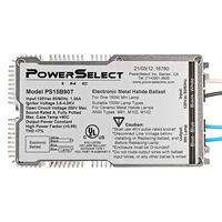 PowerSelect PS15B90T - 150 Watt - Pulse Start Metal Halide Ballast - ANSI M81/M102/M142 - 120 Volt - Power Factor 99% - Max. Temp. Rating 194 Deg. F - Side Leads with Mounting Feet