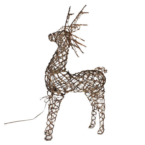 animated standing grapevine deer image