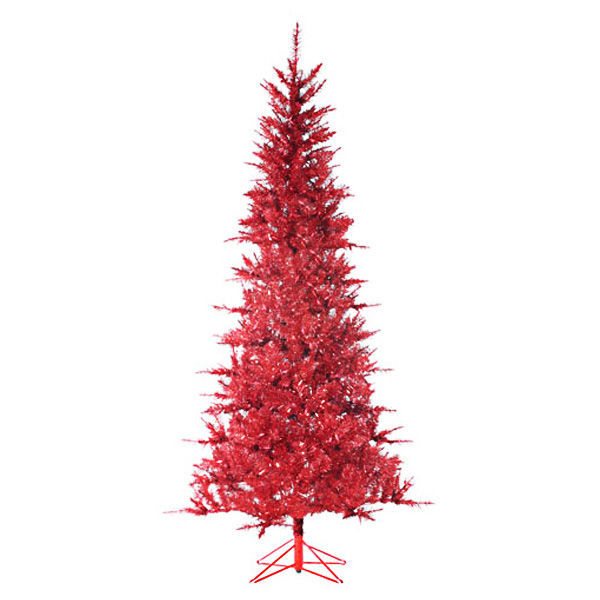 7.5 ft. x 44 in. Red Christmas Tree Image