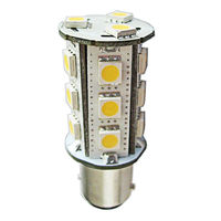 4W Single Contact BA15s - LED - 320 Lumens - 12W Halogen Equal - 3000 Kelvin - Halogen White - 12 Volt AC/DC