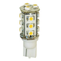 2 Watt - LED - Miniature Wedge - Halogen White - 12 Watt Equal - 12 Volt AC/DC