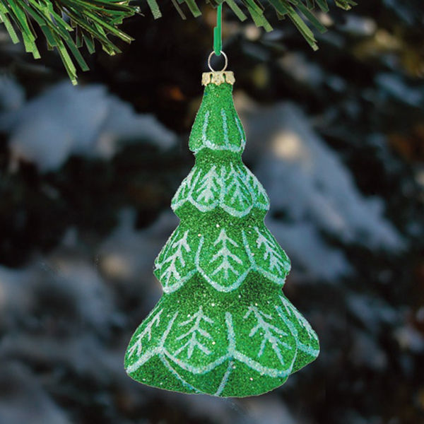 Glitter Alpine Tree Christmas Ornament Image