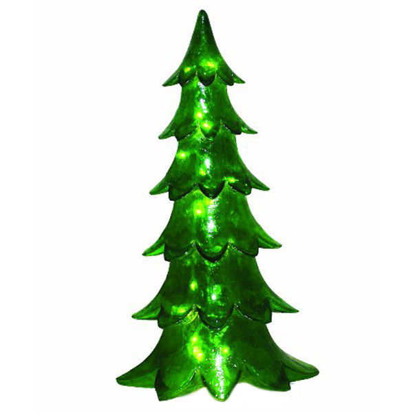 Illuminated christmas alpine tree decoration for Alpine decoration