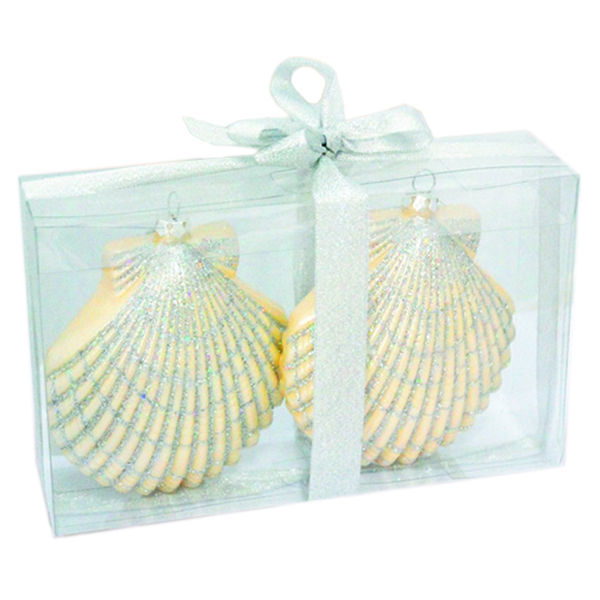 Large Clam Shell Christmas Ornament Image