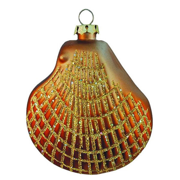 Clam Shell Christmas Ornament Image