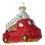 Fire Truck Christmas Ornament Image