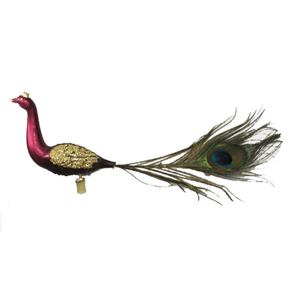 Peacock Clip Christmas Ornament Image