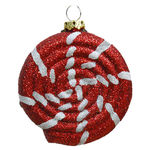 Glitter Peppermint Swirl Candy Christmas Ornament Image