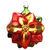 Traditional Poinsettia Christmas Ornament