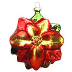 Traditional Poinsettia Christmas Ornament Image
