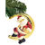 Santa on the Moon Christmas Ornament