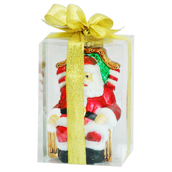 Sitting Santa Christmas Ornament Image