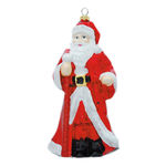 Traditional Santa Christmas Ornament Image