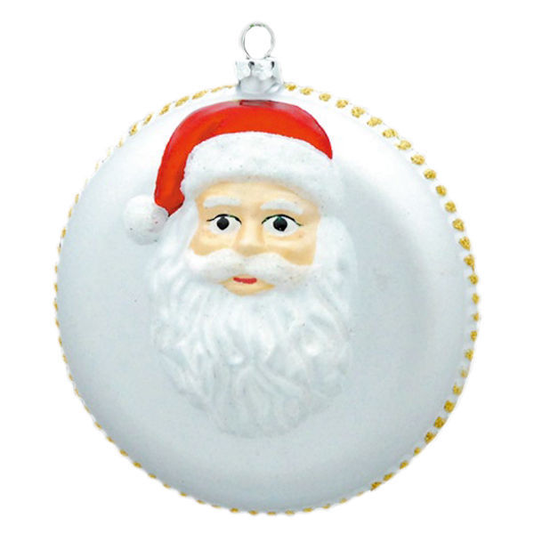 Santa Disc Christmas Ornament Image