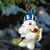 Sweeping Snowman Christmas Ornament