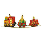Train on Track Christmas Ornament Image