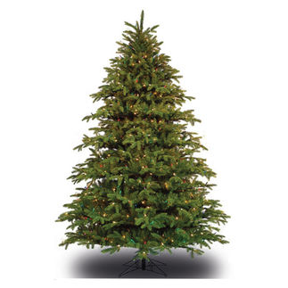 ft Artificial Christmas Tree   Pre Lit Slim Alaskan Deluxe Fir AdeIVTwy