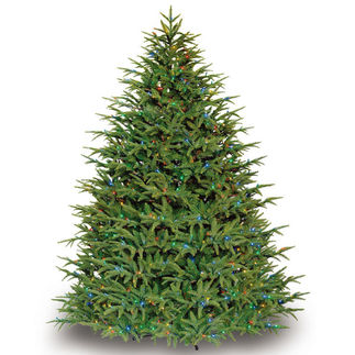7.5 ft. x 60 in. Artificial Christmas Tree - Pre-Lit Belvedere Fir - Realistic PE/PVC Needles - Barcana