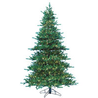 9 ft. x 70 in. - Jaxson Fir - 4680 Realistic Molded Tips - 900 Clear Incandescent Mini Lights - Barcana Artificial Christmas Tree
