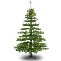 10 ft. x 62 in. - Slim Tiffany Pine - 2135 Classic Tips - 1000 Clear Incandescent Mini Lights - Barcana Artificial Christmas Tree