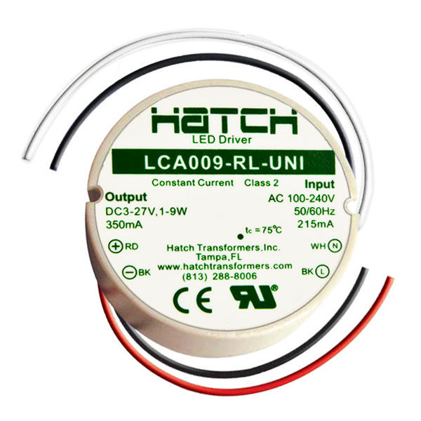 LED Driver - 27 Volt - 1-9 Watts - 350mA Output Current Image