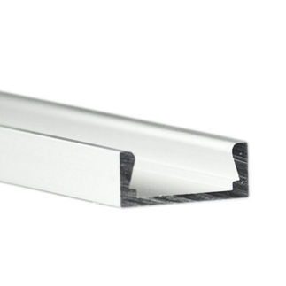 Klus B1888ANODAL - 78.75 in. Anodized Aluminum Mounting Channel - Micro - ALU LED Profile - For LED Tape Light