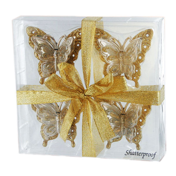 Butterfly Clip Christmas Ornament Image