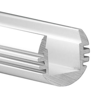 Klus B3777 - 39.4 in. Anodized Aluminum Mounting Channel - PDS - O LED Profile - For LED Tape Light