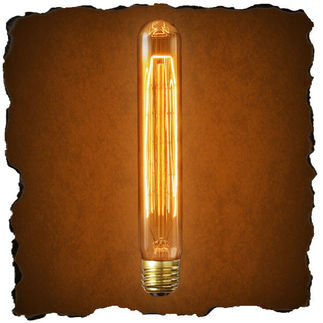 20 Watt - Vintage Antique Light Bulb - T9 Tubular Style - Hair Pin Tungsten Filment - Clear