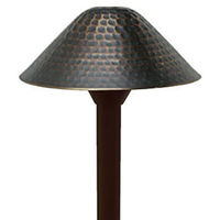 20 Watt - Halogen - Hammered Landscape Path Light - Solid Brass - Bronze Finish - 12 Volt - Greenscape AP-109B-T3-20