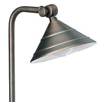 20 Watt - Halogen - Adjustable Escort Landscape Path Light - 12 Volt- Solid Brass - Bronze Finish - Greenscape AP-214B-T3-20