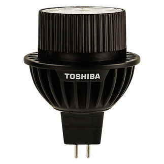 9 Watt - Dimmable LED - MR16 - 4000K Cool White - Narrow Flood - 2,030 Candlepower - 35 Watt Equal - Toshiba 9MR16/40FNF-UP