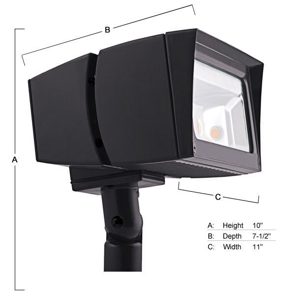 RAB FFLED39 - LED Landscape Light Image - RAB FFLED39 LED Landscape Lighting Flood Light