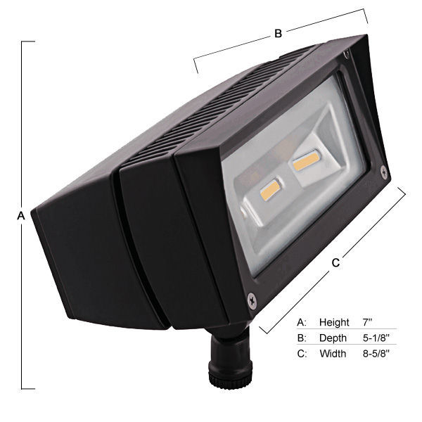 RAB FFLED18YW - 18 Watt - LED - Bullet Flood Light Fixture Image