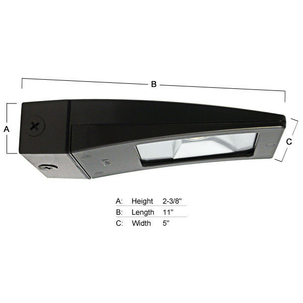 13 Watt - LED - Wall Pack - 100W  Equal Image