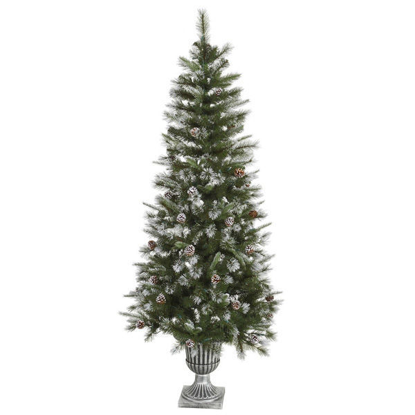 6.5 ft. x 32 in. Potted Artificial Christmas Tree Image
